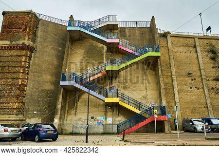Ramsgate, United Kingdom - June 29, 2021: Augusta Steps On Victoria Promenade. Also Known As Ramsgat
