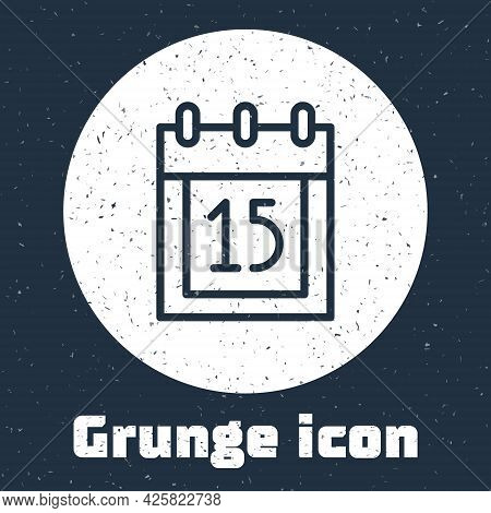 Grunge Line Happy Independence Day India Icon Isolated On Grey Background. Flyer Design For 15th Aug