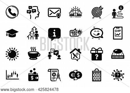 Vector Set Of Business Icons Related To Education Idea, Consulting Business And Divider Document Ico