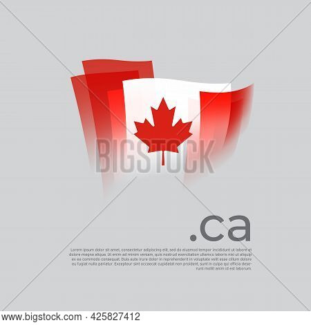 Canada Flag. Canadian Flag Painted With Abstract Brush Strokes On A White Background. Vector Stylize