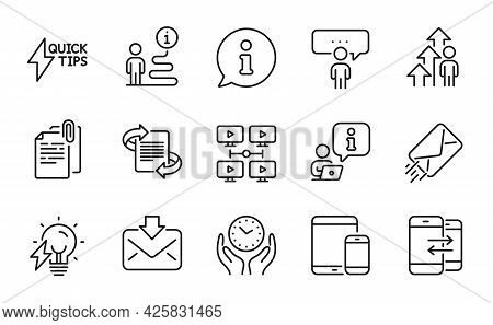 Education Icons Set. Included Icon As Marketing, Phone Communication, Mobile Devices Signs. E-mail,
