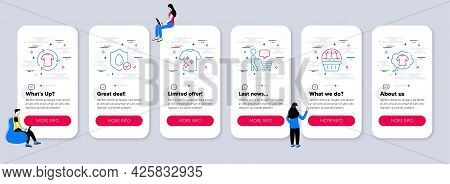 Set Of Fashion Icons, Such As Waterproof, Online Shopping, Change Clothes Icons. Ui Phone App Screen
