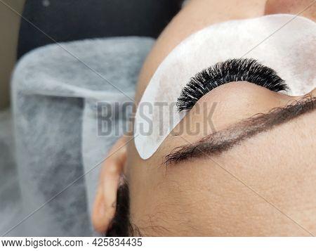 Lash Extensions Macro Hazel Eye Top View