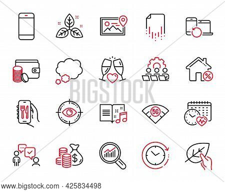 Vector Set Of Business Icons Related To Recovery Devices, Loan House And Fair Trade Icons. Teamwork,
