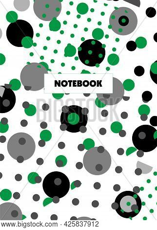 Book Cover Design. Notebook For College, A School Notebook. Vector Illustration. Abstract Pattern Of