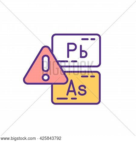 Environmental Toxicants Exposure Rgb Color Icon. Neurotoxic Metals. Deficits In Children Behavioral