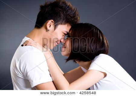 Couple Looking At Each Other Deeply In Love