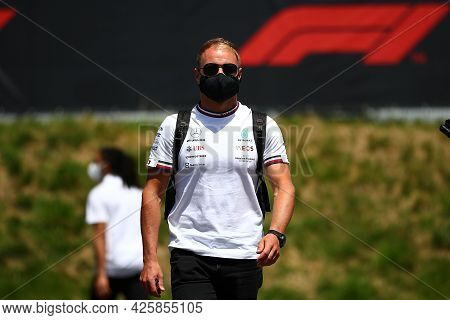 Valtteri Bottas Of Mercedes Amg F1 Team   Walks In The Paddock During Previews Ahead Of The   Styria