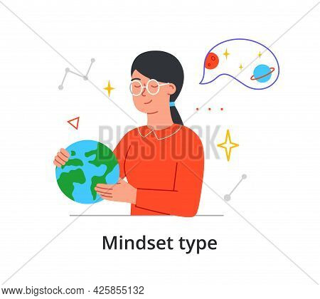 Mindset Type Of A Young Woman With An Adventurous Enquiring Mind Dreaming Of Exploring Outer Space A