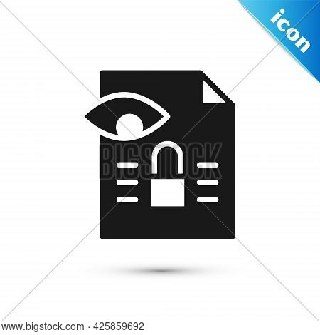 Grey Journalistic Investigation Icon Isolated On White Background. Financial Crime, Tax Evasion, Mon