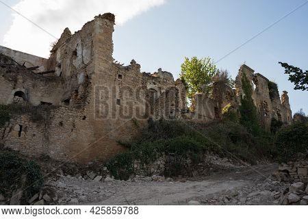 Beautiful Ruins Of The Ancient Monastery Of Santa Maria De Rioseco, Merindades, Burgos, Spain, Europ