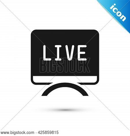 Grey Live Report Icon Isolated On White Background. Live News, Hot News. Vector