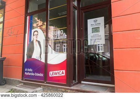 Gorzow Wielkopolski, Poland - June 1, 2021: Deputy Office Of Dr. Anita Kucharska-dziedzic.