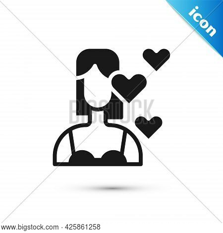 Grey Love Yourself Icon Isolated On White Background. Self Love. Self Care And Happiness. Vector