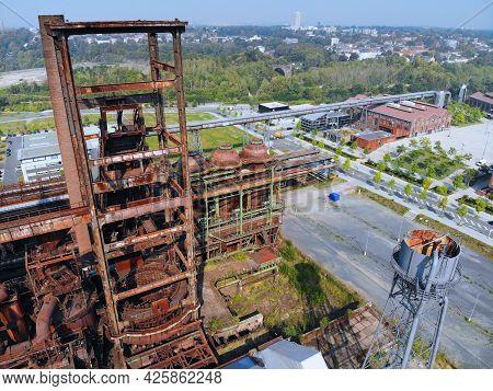 Dortmund, Germany. Former Industrial Architecture Of Phoenix West Steel Mill Blast Furnace (hochofen