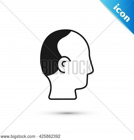 Grey Baldness Icon Isolated On White Background. Alopecia. Vector