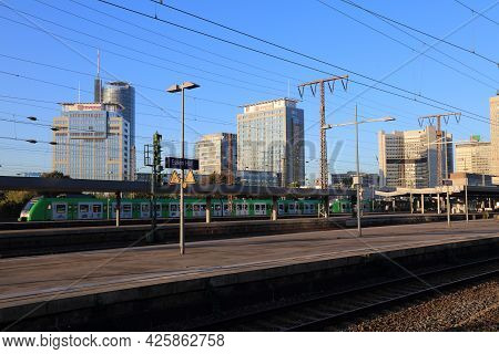 Essen, Germany - September 21, 2020: Skyline Of Sudviertel District In Essen, Germany Seen From The