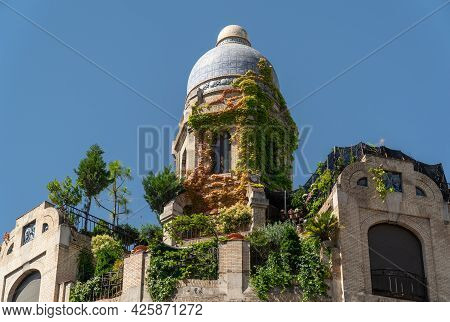 Madrid, Spain. July 2, 2021. `casa Dos Portugueses`, Quirky Office Building In The Center Of Madrid