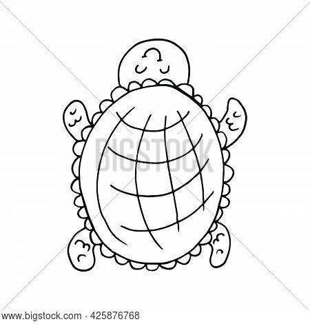 Icon Set. Mermaid. Marine Theme Icon In Hand Draw Style. Cute Childish Illustration Of Sea Life. Ico