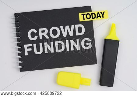 Business Concept. On A White Background Lies A Marker And A Notebook With A Today Sticker And The In