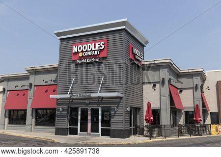 Cincinnati - Circa July 2021: Noodles & Company Fast Casual Restaurant. Noodles & Company Offers Int