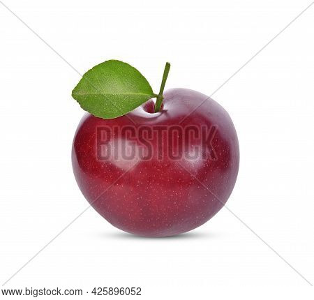 Close Up Of Cherry Isolated On White Background