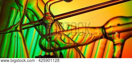 Scientific background. Chemical glassware Scientific background. Chemical glassware