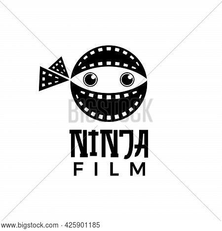 Unique And Simple Ninja Film Logo Template