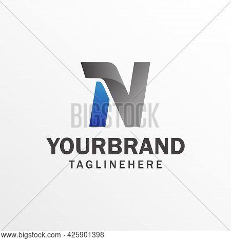Modern Vector Graphics For Symbols, Alphabet Fonts, Letter N. Alphabet Logo Design Template