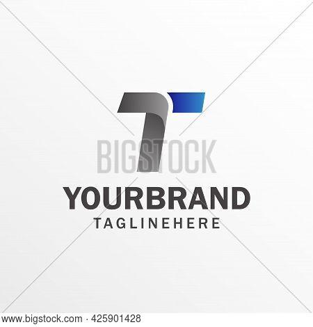 Logo Letter T. White Background. Vector Illustration. Alphabet Logo Design Template