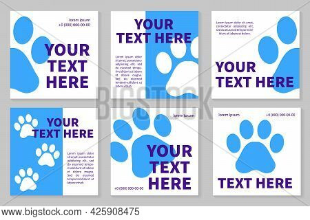 Veterinary Clinic Social Media Template. Pet Care Social Media Post. Web Banner Square Template. Pet