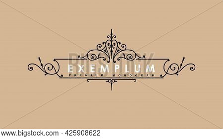 Premium Victorian Monogram Templates To Create Logos, Emblems, Personal Monograms In A Sophisticated