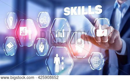 Skills Learning Personal Development Competency Business Concept 2021