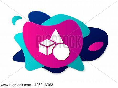 Color Basic Geometric Shapes Icon Isolated On White Background. Abstract Banner With Liquid Shapes.