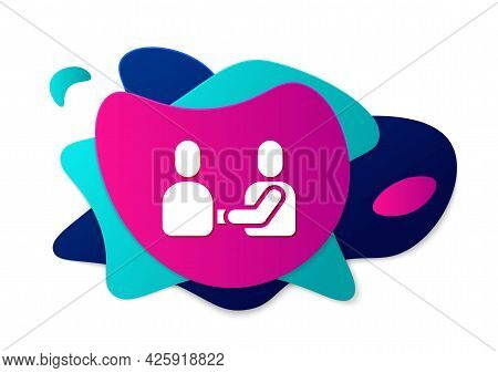 Color Happy Friendship Day Icon Isolated On White Background. Everlasting Friendship Concept. Abstra