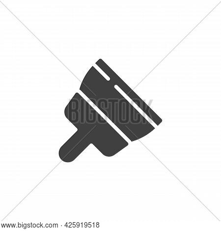 Plastering Trowel Vector Icon. Filled Flat Sign For Mobile Concept And Web Design. Putty Knife Glyph