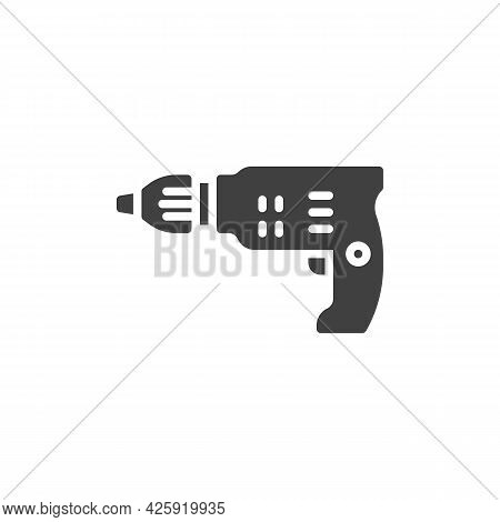 Electric Screwdriver Vector Icon. Filled Flat Sign For Mobile Concept And Web Design. Cordless Screw