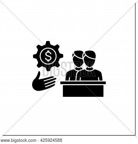Evp Glyph Icon. Development Employee Value Proposition. Benefits Which Employees Receive. Rewards. T