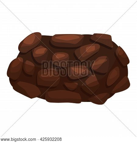 Whole Truffle Icon Cartoon Vector. Hand Mushroom Truffle. Cooking Fungus