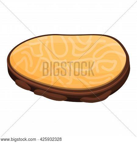 Gourmet Truffle Icon Cartoon Vector. Mushroom Fungus. Cooking Fungi Slice
