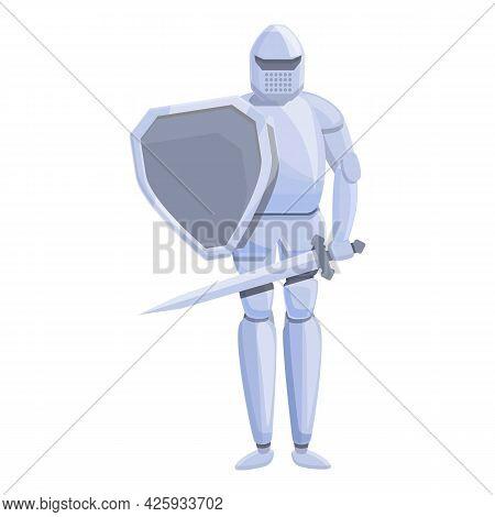 Armor Knight Icon Cartoon Vector. Medieval Shield Helmet. Warrior Armour
