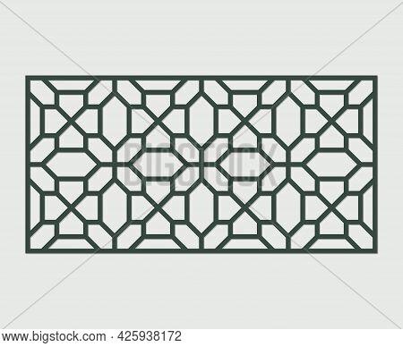 Laser Cutting Template. Decorative Lattice. Middle Eastern Geometric Pattern.