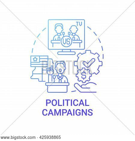 Political Campaigns Fundraiser Concept Icon. Membership Fees, Subscriptions Abstract Idea Thin Line