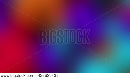 Abstract Background, Blurred Shape With Gradients Effects, 3d Illustration For Graphic Design, Banne