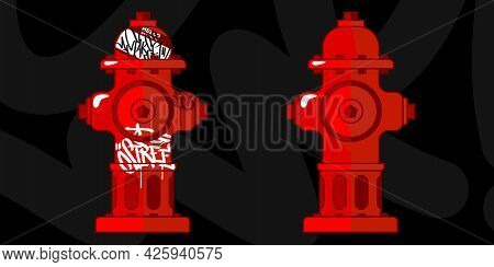 Flat Red City Fire Hydrant Water Supply System Vector Design Element