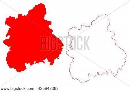 West Midlands Region (united Kingdom, Region Of England) Map Vector Illustration, Scribble Sketch We