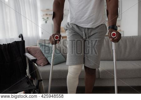 Bone Fracture, Injury, Recovery And Treatment At Home After Incident