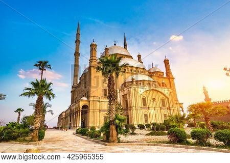 Mohamed Ali Mosque In Cairo Citadel At Sunrise