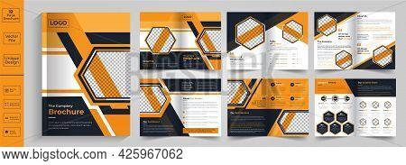 Minimal And Geometric Brochure Design,minimal Business Brochure Template Design,company Profile Desi