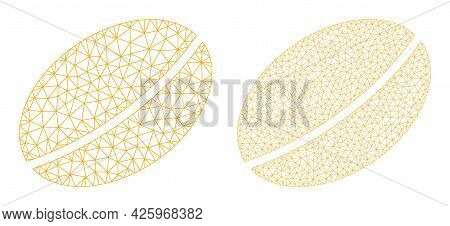 Mesh Vector Wheet Seed Icons. Mesh Wireframe Wheet Seed Images In Low Poly Style With Organized Tria